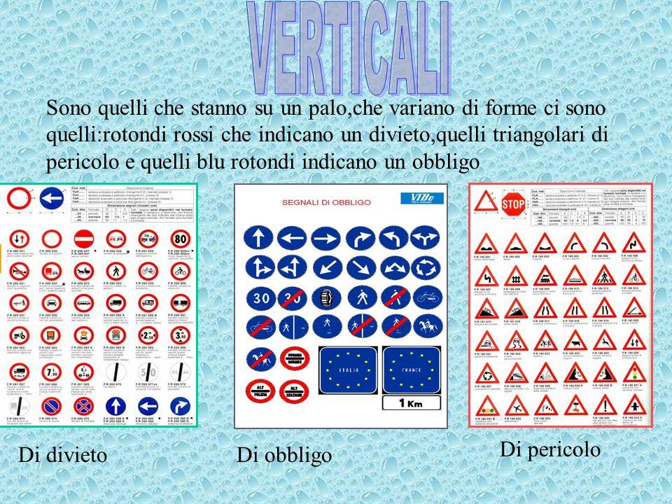 I segnali Orizzontali sono quelli disegnati a terra:come le strisce pedonali o lo stop Non investite i pedoni!