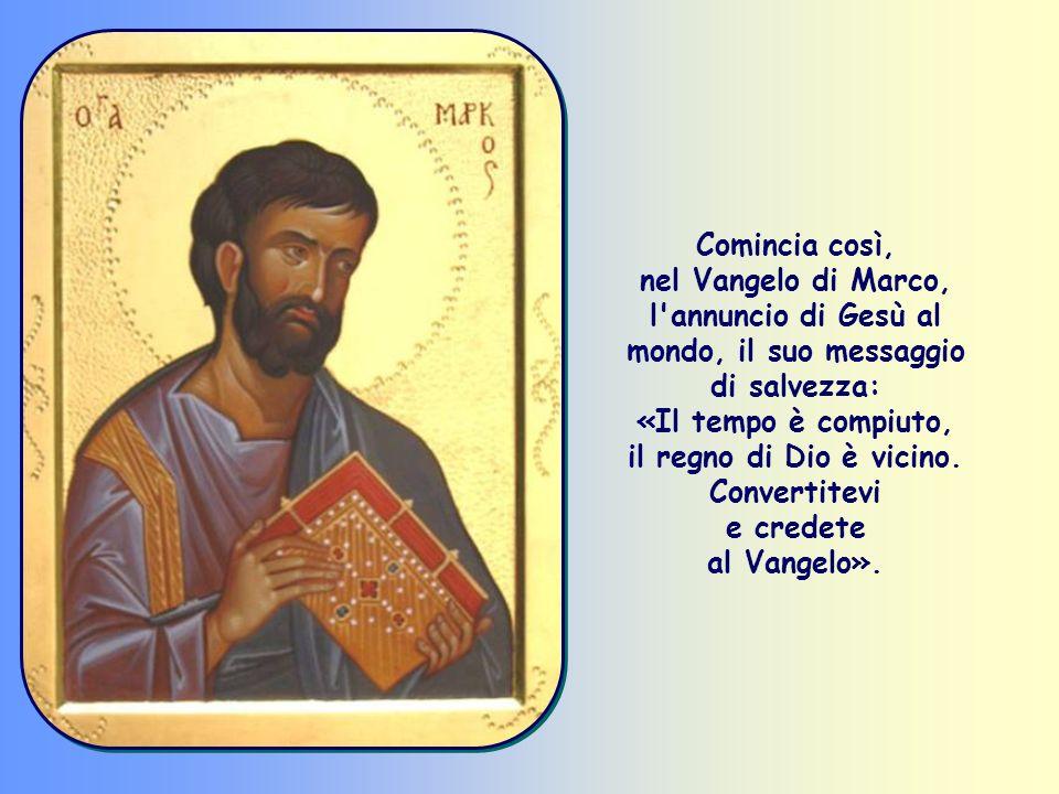 «Convertitevi e credete al Vangelo» (Mc 1,15).