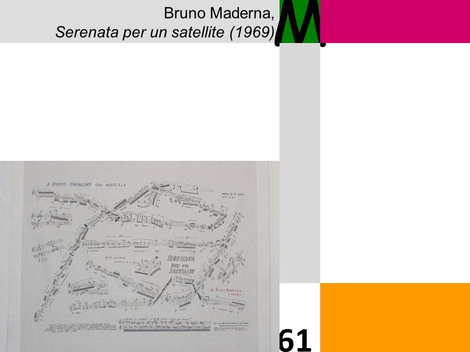 Bruno Maderna, Serenata per un satellite (1969) M 61 Solo immagine partitura