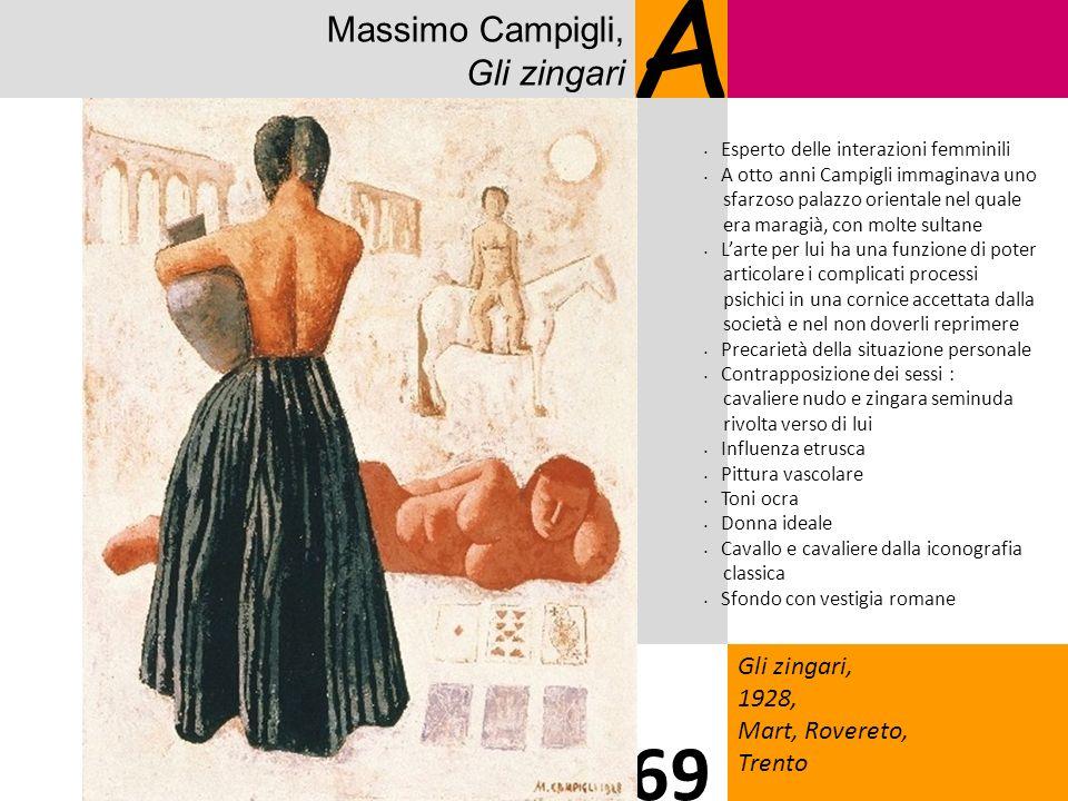 Massimo Campigli, Gli zingari A Gli zingari, 1928, Mart, Rovereto, Trento 69 Esperto delle interazioni femminili A otto anni Campigli immaginava uno s