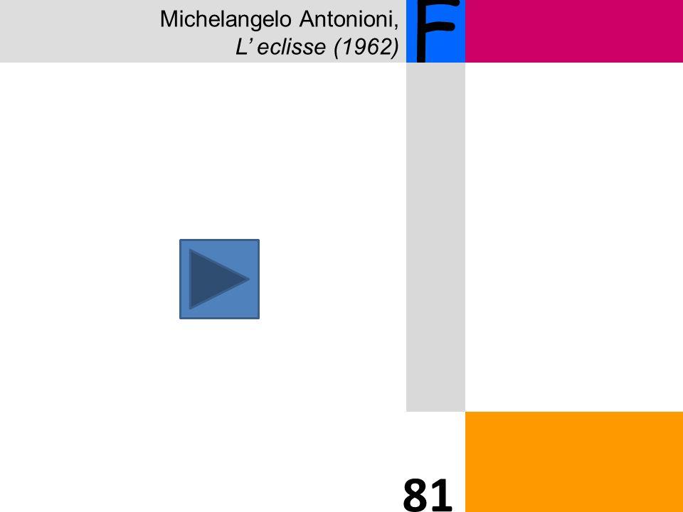 Michelangelo Antonioni, L eclisse (1962) F 81