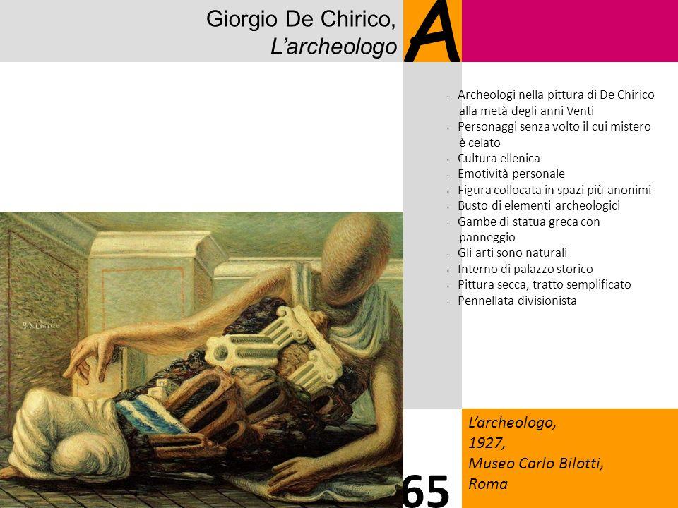 Giorgio De Chirico, Larcheologo A Larcheologo, 1927, Museo Carlo Bilotti, Roma 65 Archeologi nella pittura di De Chirico alla metà degli anni Venti Pe