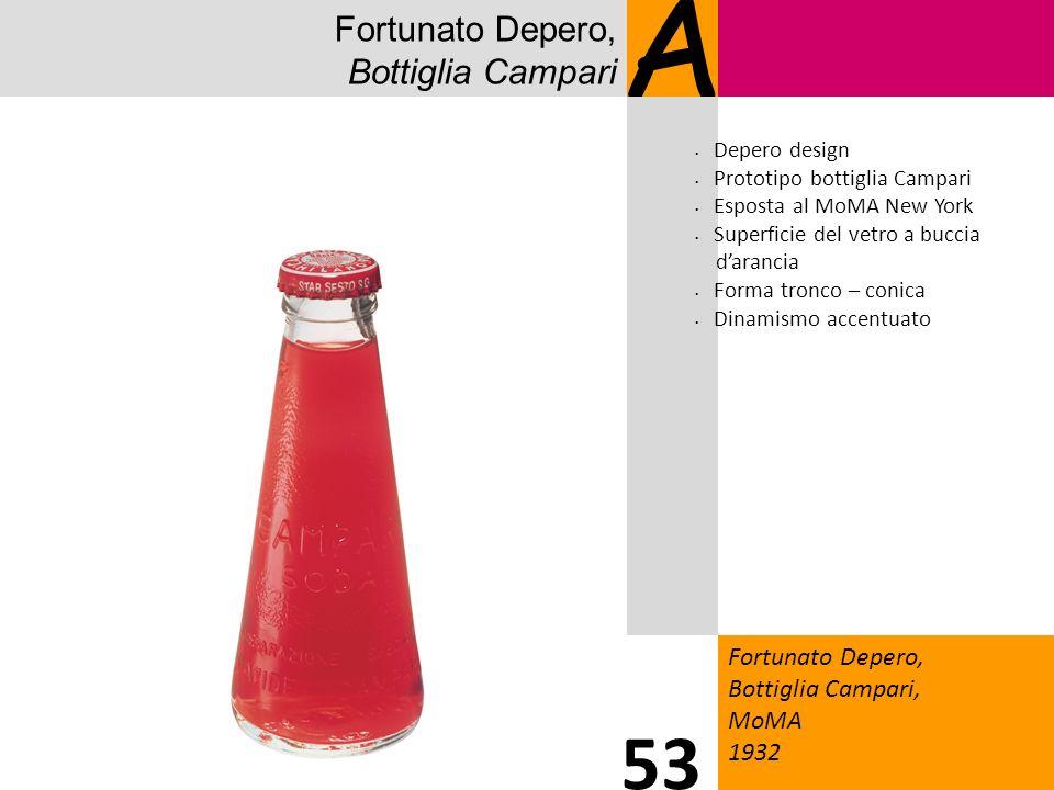 Fortunato Depero, Bottiglia Campari A Fortunato Depero, Bottiglia Campari, MoMA 1932 53 Depero design Prototipo bottiglia Campari Esposta al MoMA New