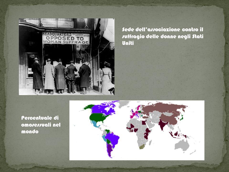 Sede dellassociazione contro il suffragio delle donne negli Stati Uniti Percentuale di omosessuali nel mondo
