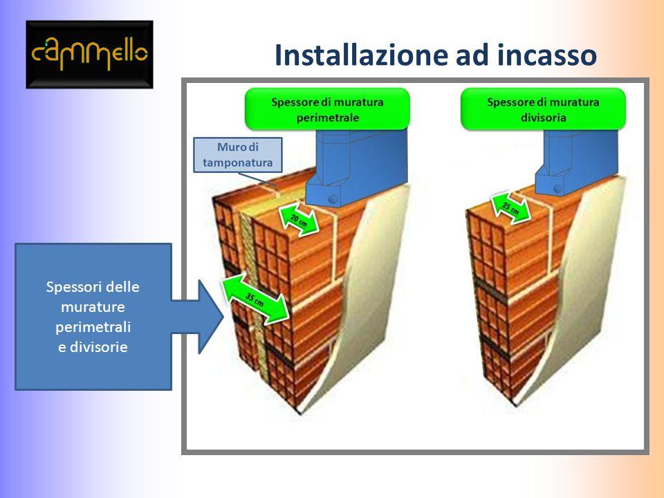 Installazione ad incasso Posa della cisterna su muratura perimetrale o divisoria Realizzazione impianti idrici e collegamenti alla cisterna