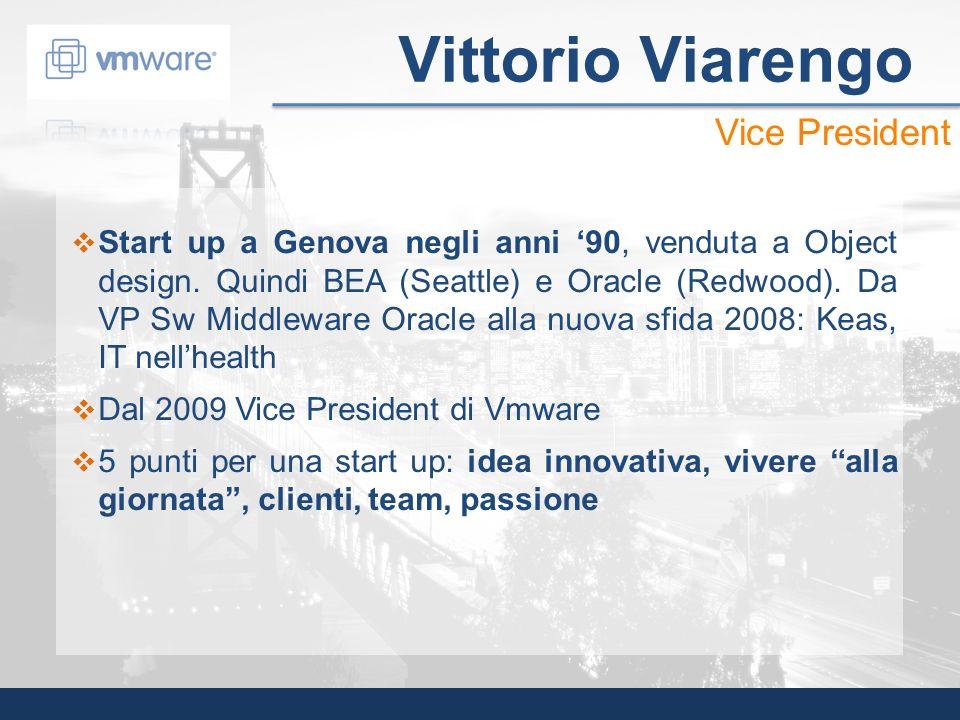 Start up a Genova negli anni 90, venduta a Object design. Quindi BEA (Seattle) e Oracle (Redwood). Da VP Sw Middleware Oracle alla nuova sfida 2008: K
