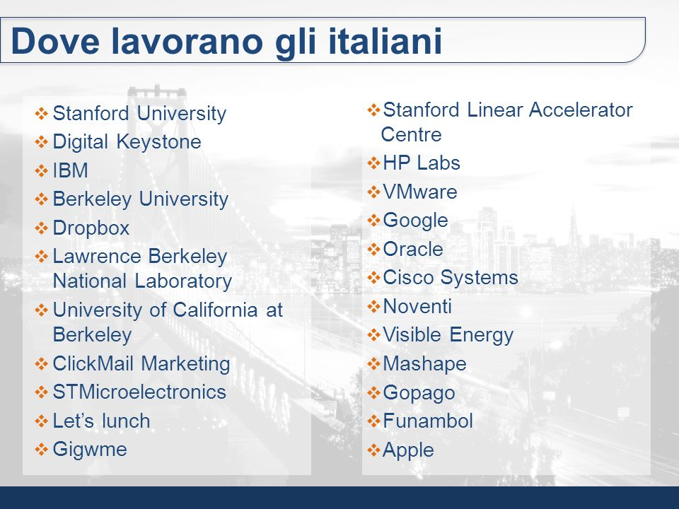 Jeff Cabili Italo-libanese, guida lo sviluppo della promozione dellUniversità di Stanford.
