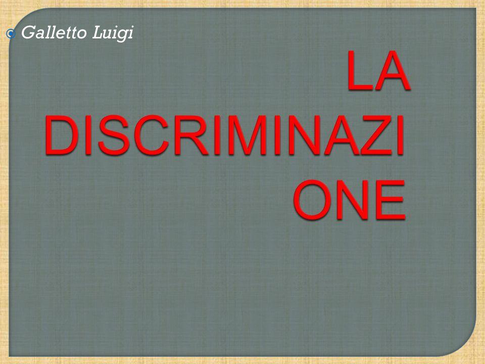 La discriminazione consiste in un trattamento non paritario attuato nei confronti di un individuo o un gruppo di individui in virtù della loro appartenenza ad una particolare categoria.