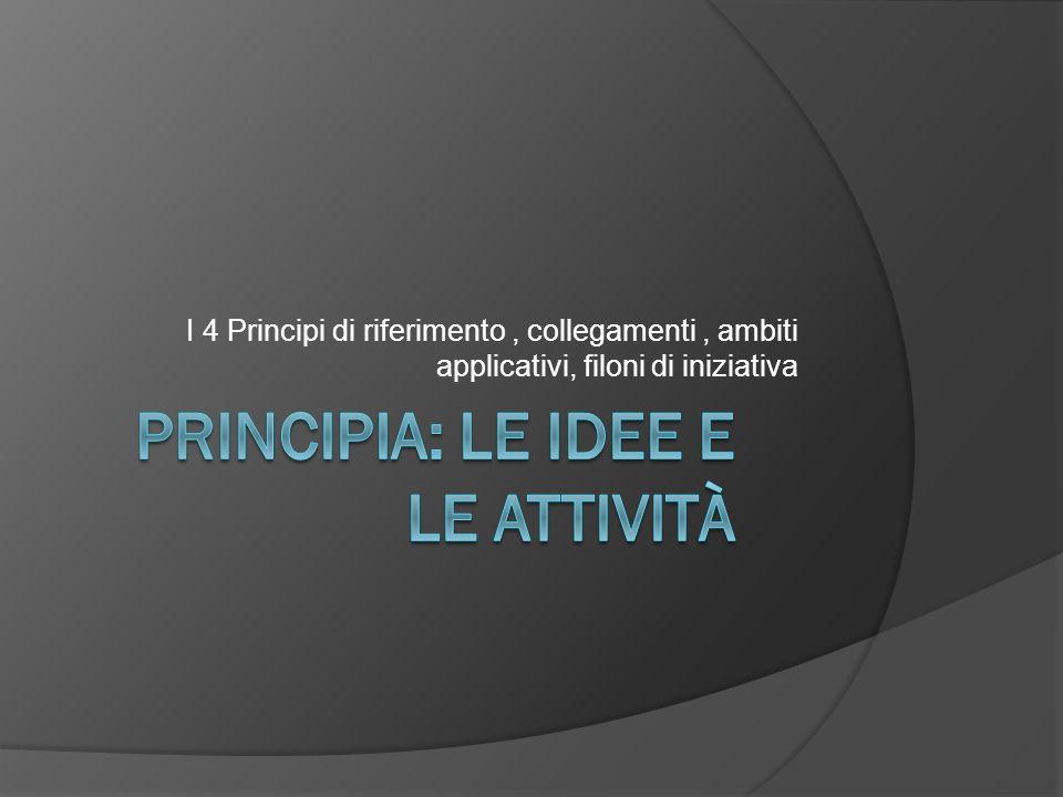 I 4 Principi di riferimento, collegamenti, ambiti applicativi, filoni di iniziativa