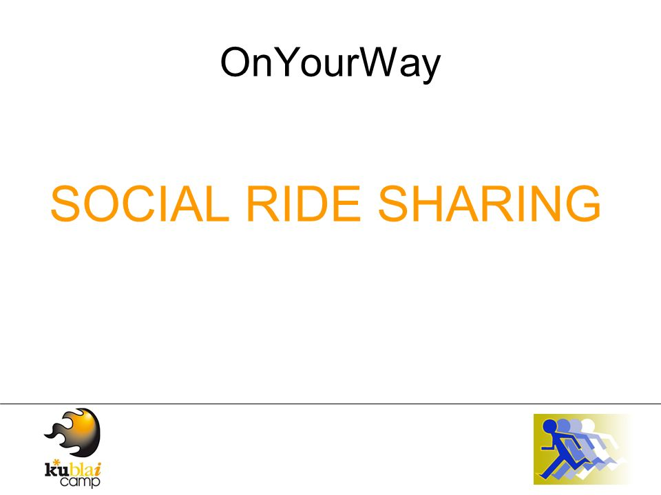 OnYourWay SOCIAL RIDE SHARING