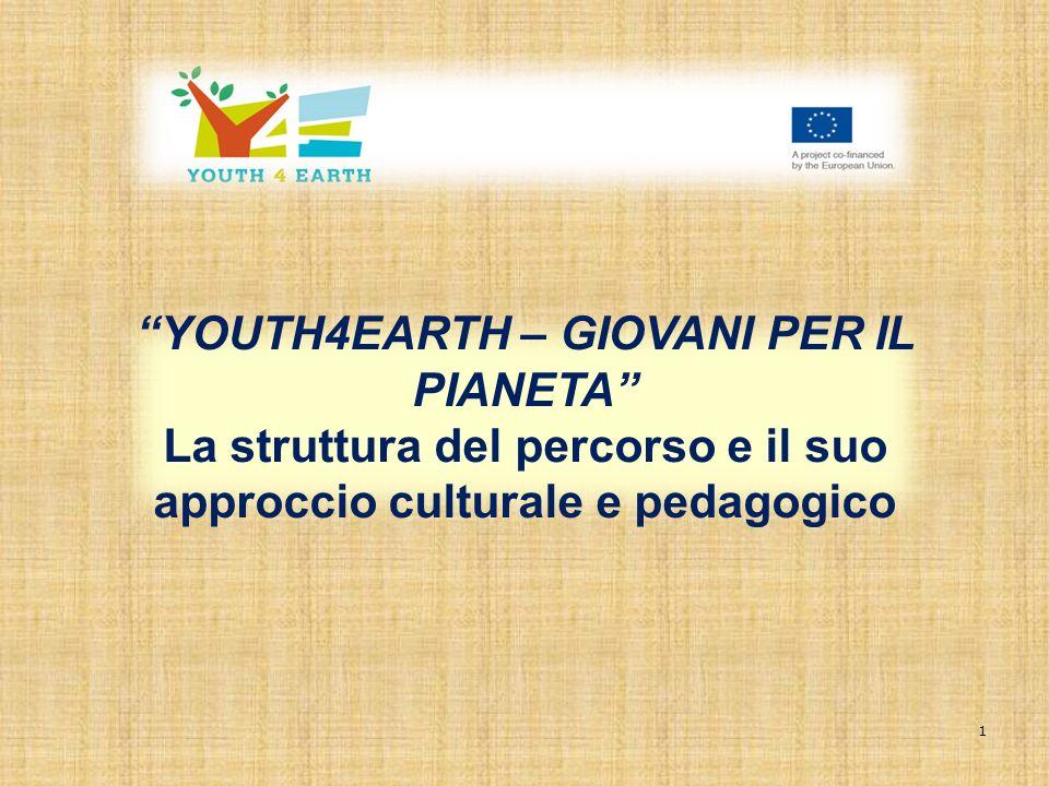 1 YOUTH4EARTH – GIOVANI PER IL PIANETA La struttura del percorso e il suo approccio culturale e pedagogico