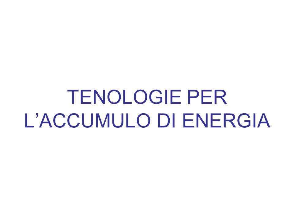 TENOLOGIE PER LACCUMULO DI ENERGIA