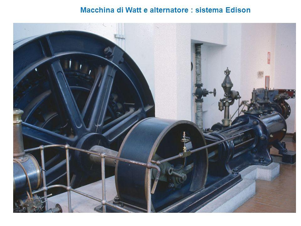 Macchina di Watt e alternatore : sistema Edison