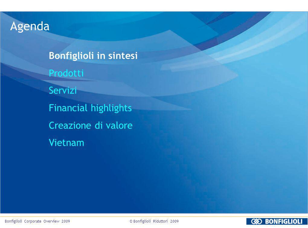 Agenda Bonfiglioli in sintesi Prodotti Servizi Financial highlights Creazione di valore Vietnam Bonfiglioli Corporate Overview 2009