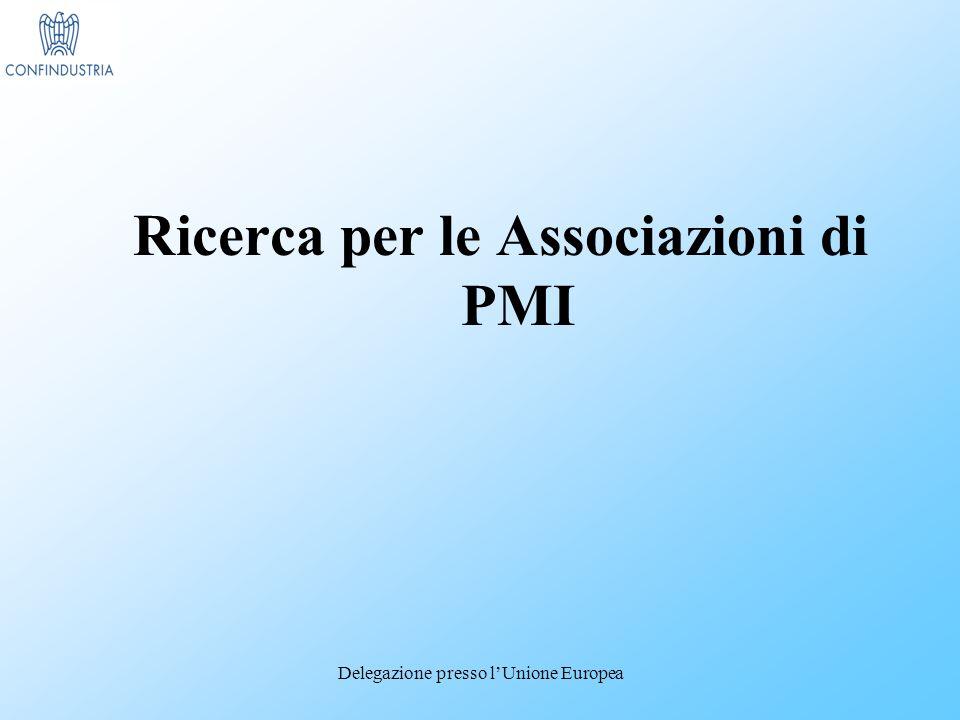 Delegazione presso lUnione Europea Ricerca per le Associazioni di PMI
