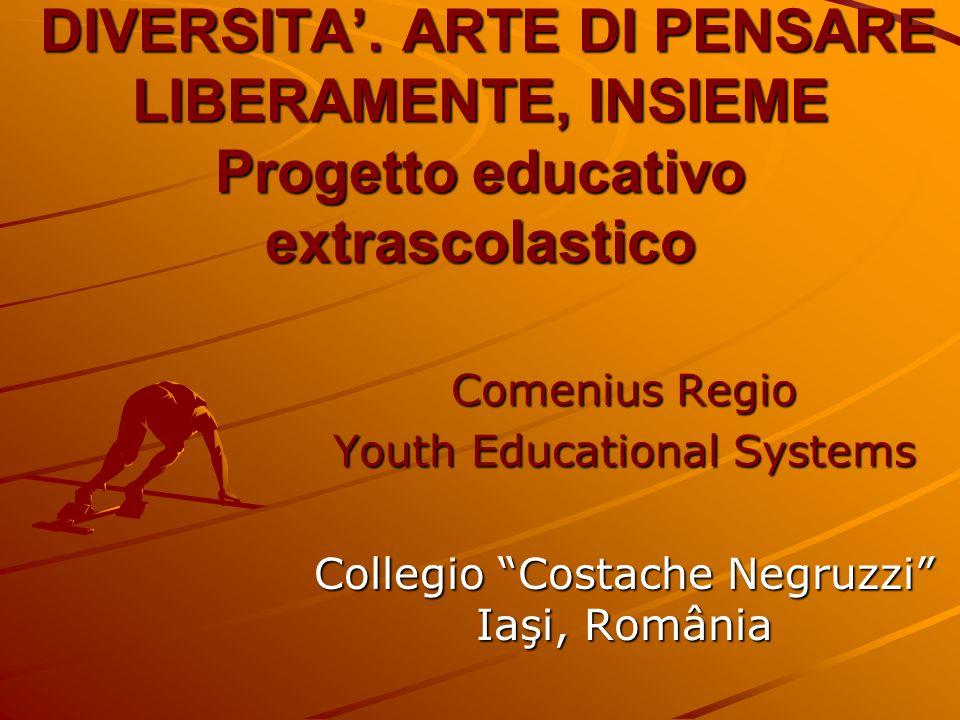DIVERSITA. ARTE DI PENSARE LIBERAMENTE, INSIEME Progetto educativo extrascolastico DIVERSITA.