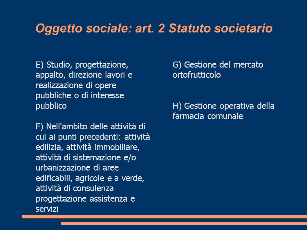 Oggetto sociale: art.