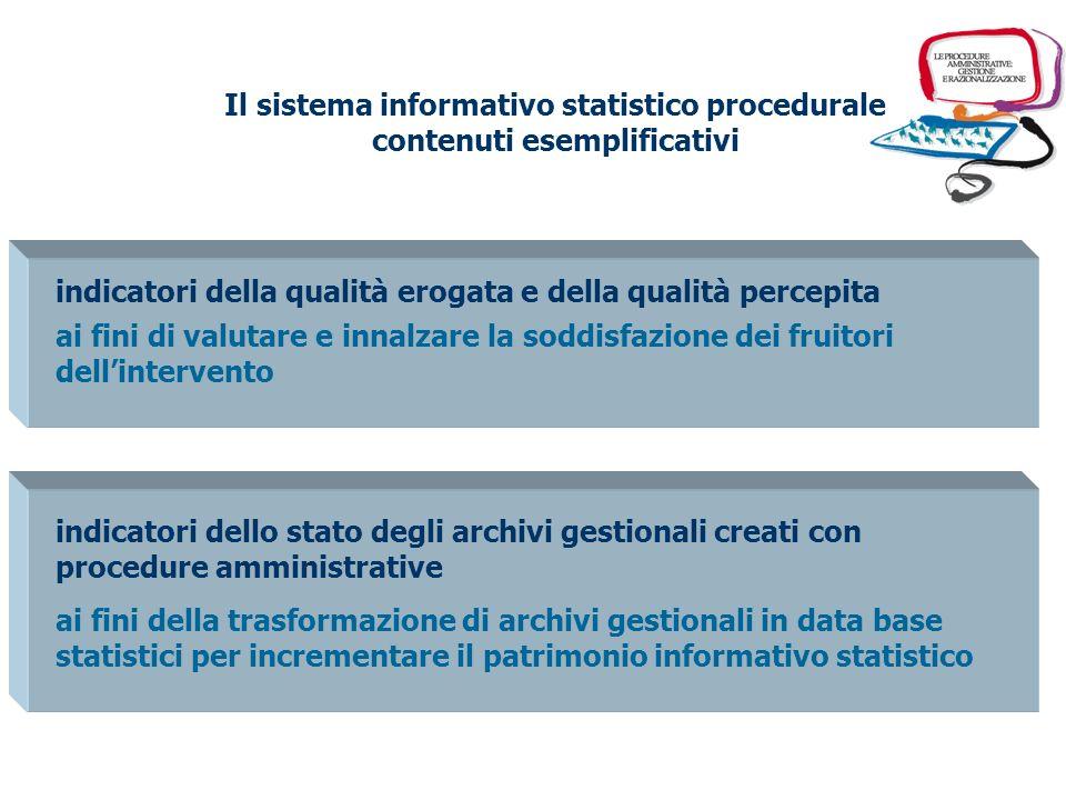 Il sistema informativo statistico procedurale contenuti esemplificativi variabili analitiche sullimpiego delle risorse ai fini dellefficienza attività