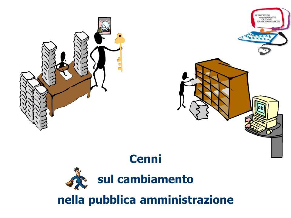 Cenni sul cambiamento nella pubblica amministrazione