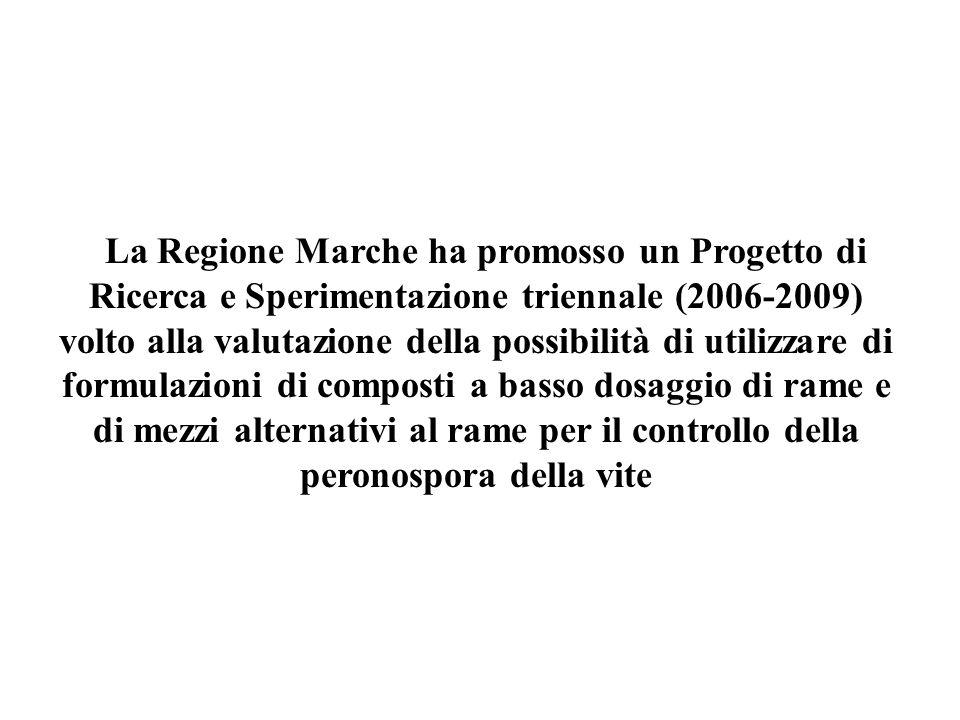 La Regione Marche ha promosso un Progetto di Ricerca e Sperimentazione triennale (2006-2009) volto alla valutazione della possibilità di utilizzare di