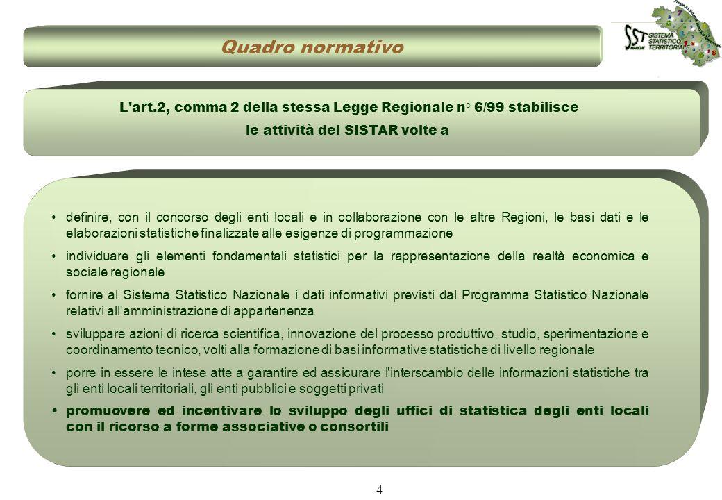 4 definire, con il concorso degli enti locali e in collaborazione con le altre Regioni, le basi dati e le elaborazioni statistiche finalizzate alle es
