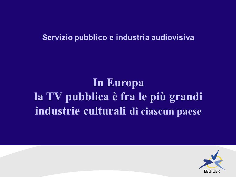 Servizio pubblico e industria audiovisiva / 2 BBC, ARD/ZDF e RAI sono i maggiori committenti audiovisivi nei loro paesi