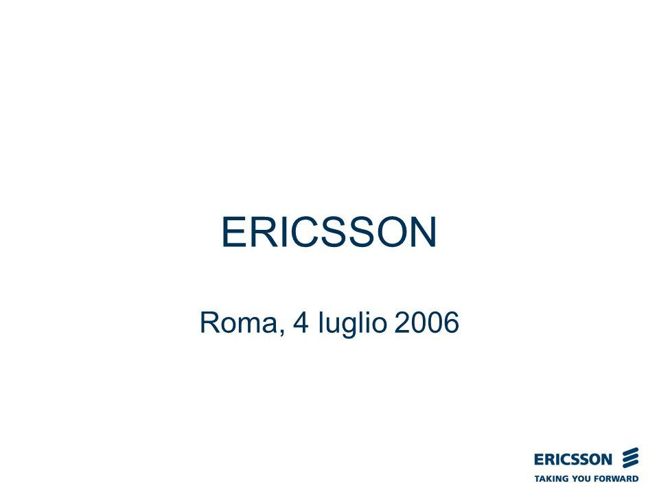 Slide title In CAPITALS 50 pt Slide subtitle 32 pt ERICSSON Roma, 4 luglio 2006