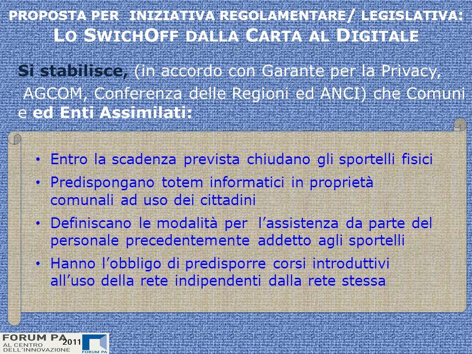 2011 Perseguibile? Si! Uno switch-off : Impossibile? No! Complesso? Si! 2011 Attilio A. Romita