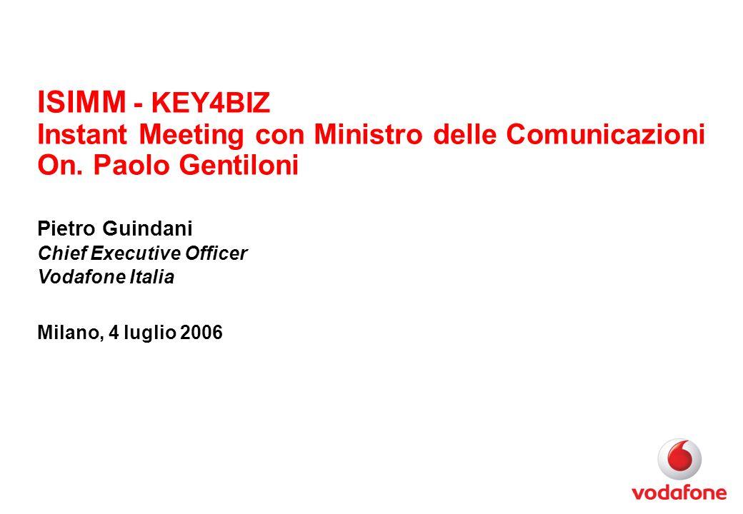 ISIMM - KEY4BIZ Instant Meeting con Ministro delle Comunicazioni On.