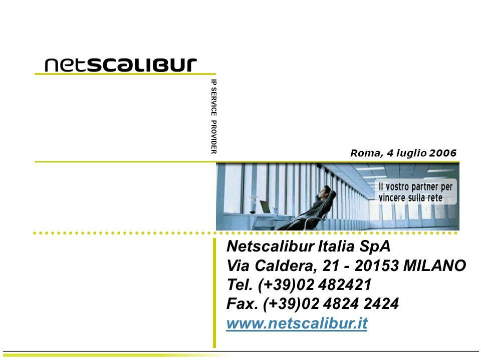 Netscalibur Italia SpA Via Caldera, 21 - 20153 MILANO Tel.