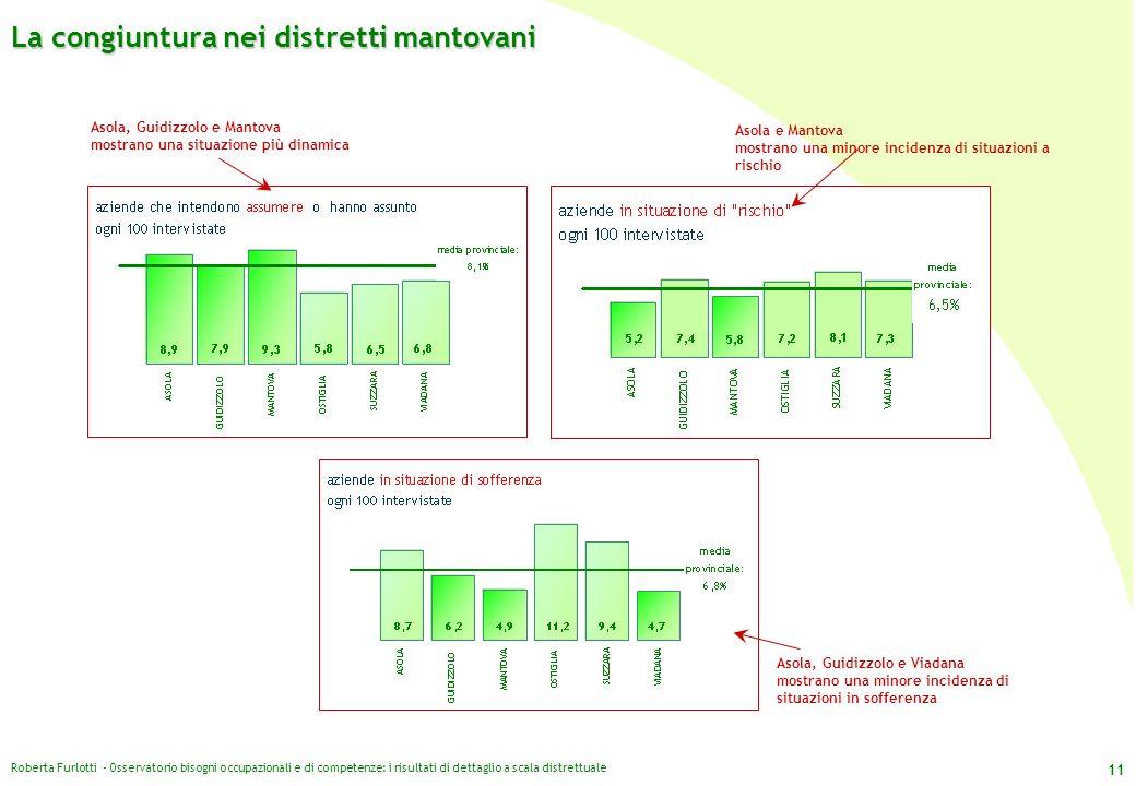 Roberta Furlotti - Osservatorio bisogni occupazionali e di competenze: i risultati di dettaglio a scala distrettuale 11 Asola, Guidizzolo e Viadana mo