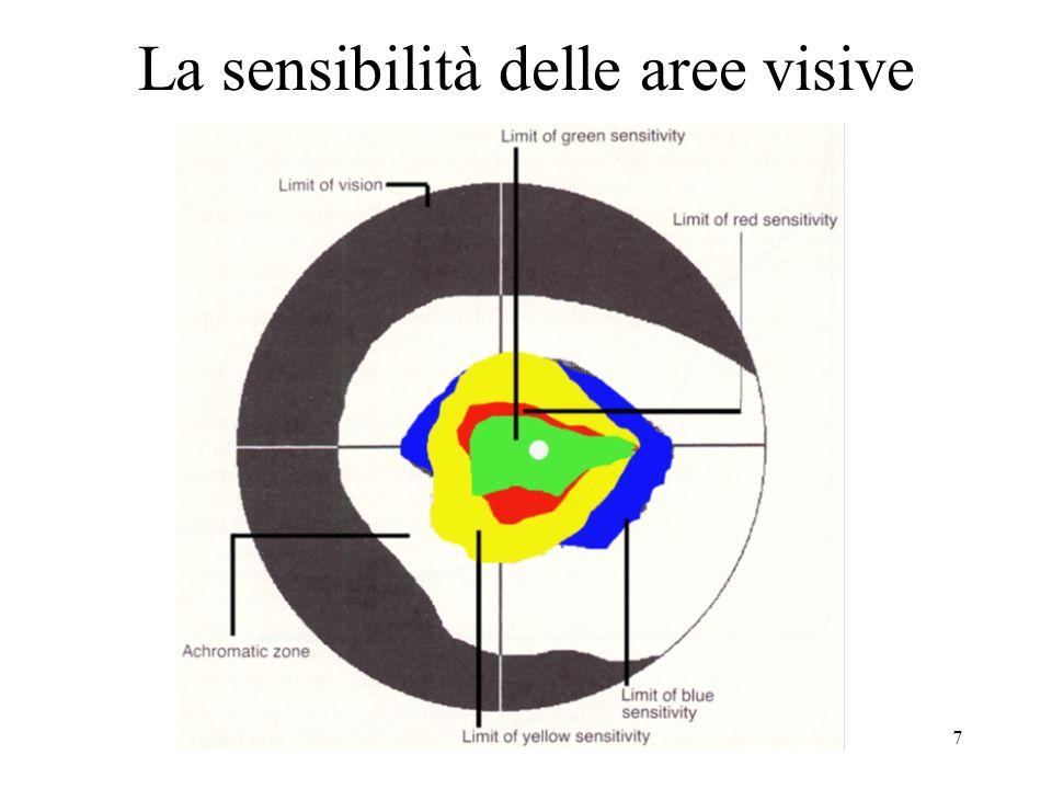 7 La sensibilità delle aree visive