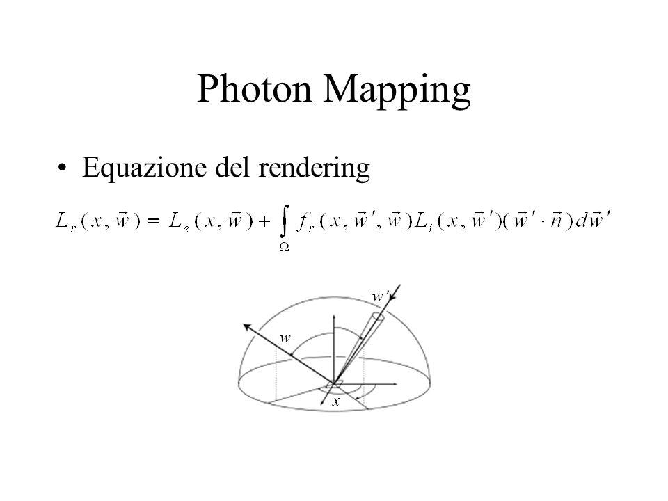 Photon Mapping Equazione del rendering x w w