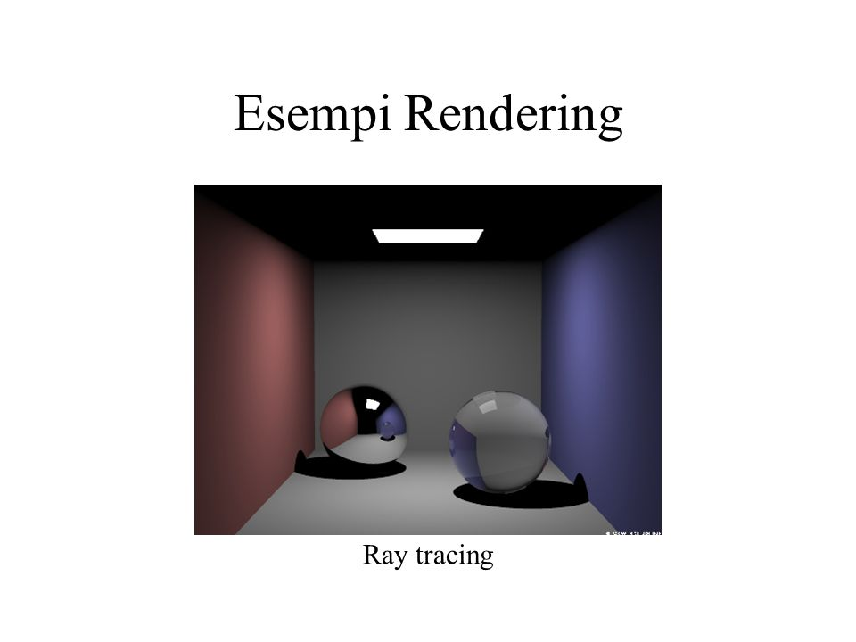 Esempi Rendering Ray tracing