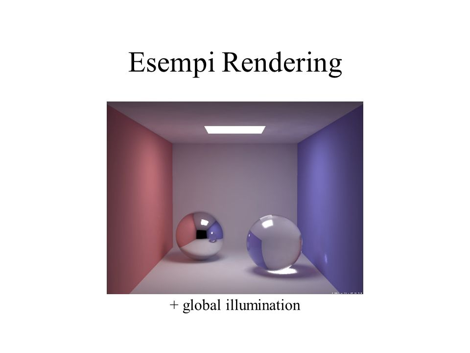 Esempi Rendering + global illumination