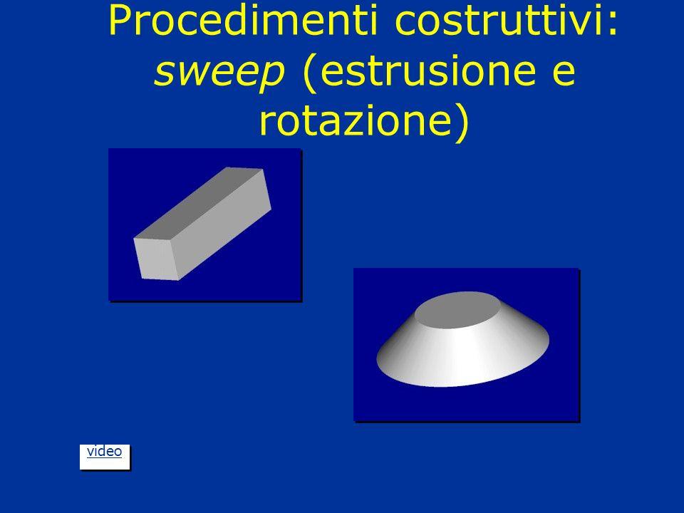 Procedimenti costruttivi: sweep (estrusione e rotazione) video