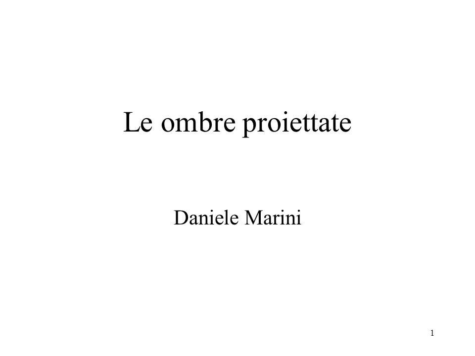 1 Le ombre proiettate Daniele Marini
