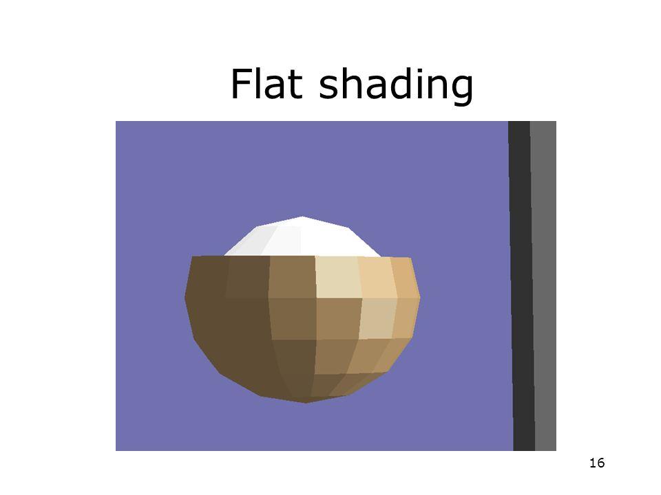 16 Flat shading
