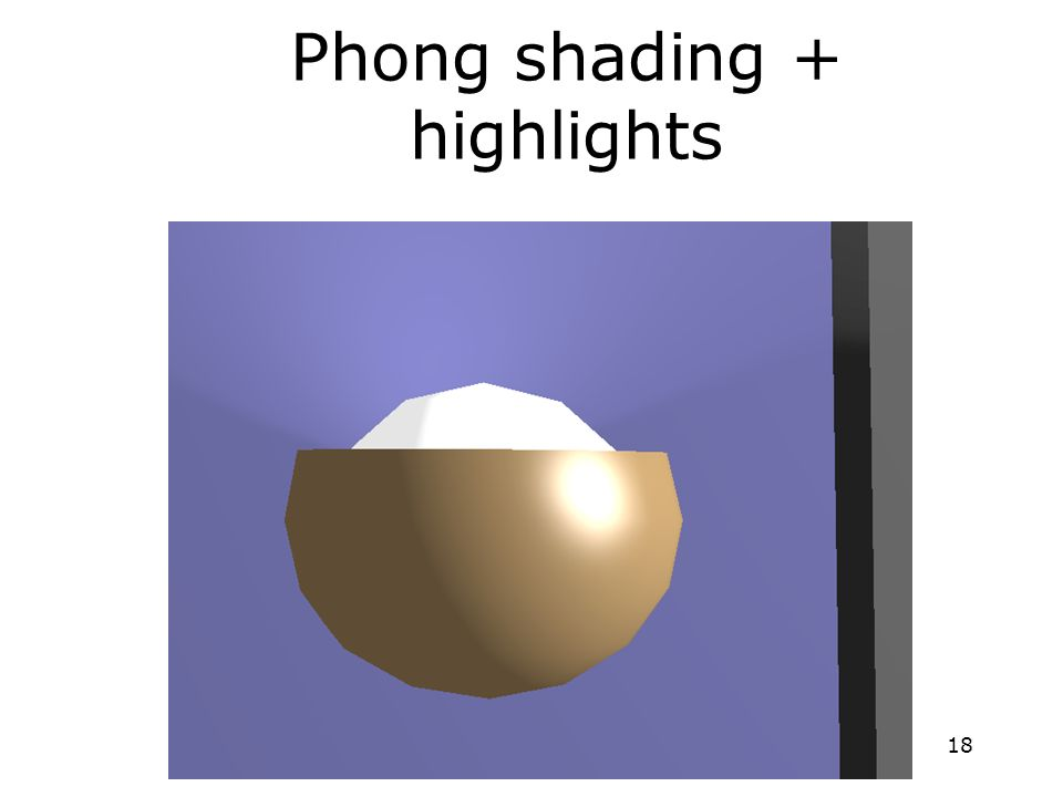 18 Phong shading + highlights