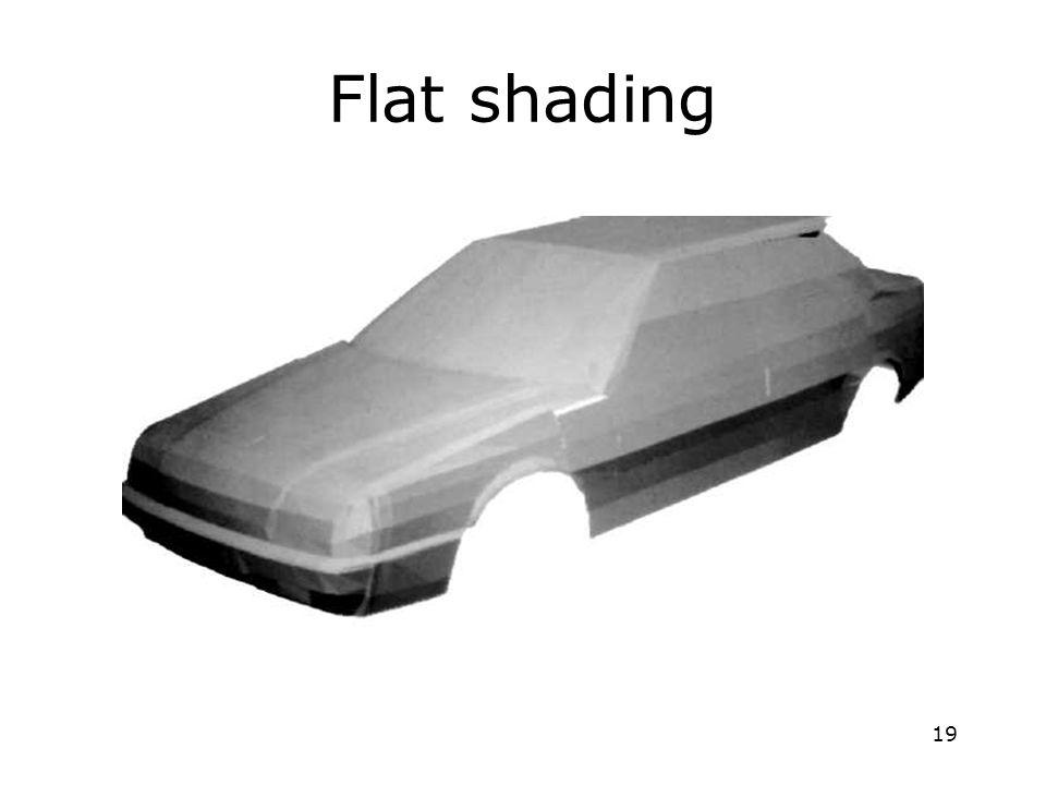 19 Flat shading