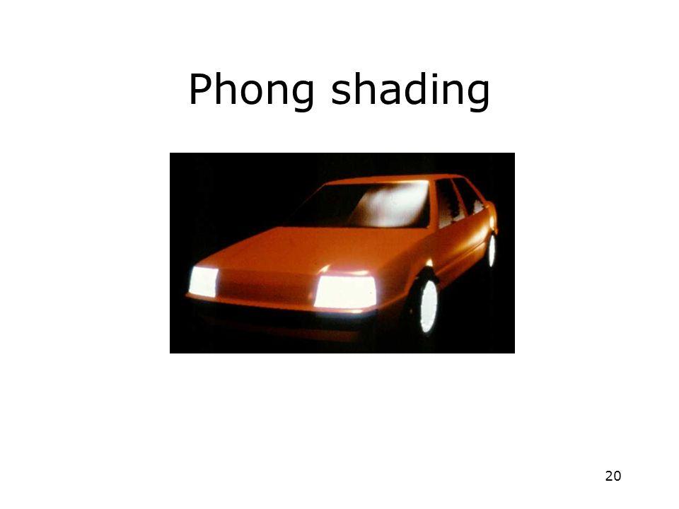 20 Phong shading