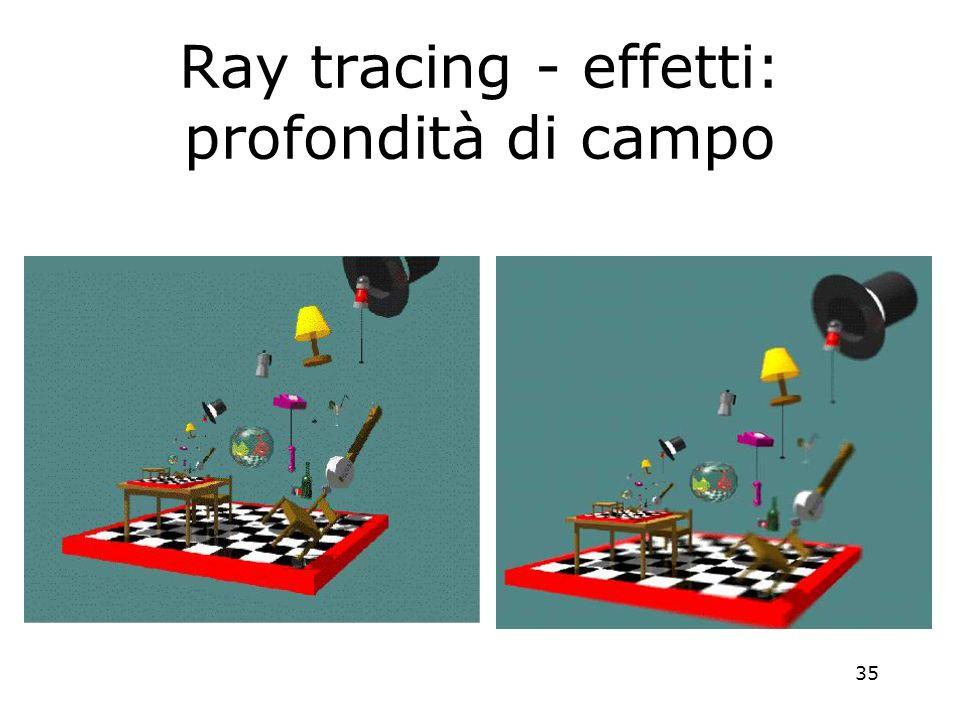 35 Ray tracing - effetti: profondità di campo
