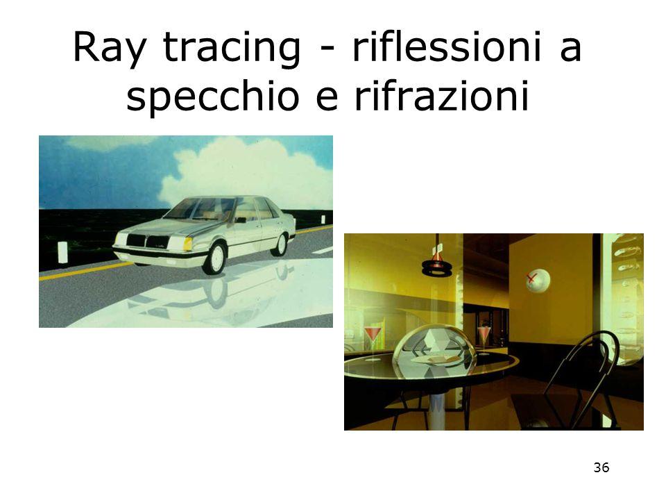 36 Ray tracing - riflessioni a specchio e rifrazioni