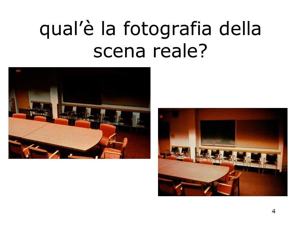 4 qualè la fotografia della scena reale?