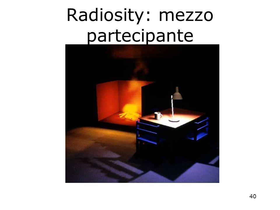 40 Radiosity: mezzo partecipante
