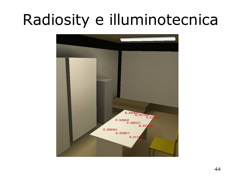44 Radiosity e illuminotecnica