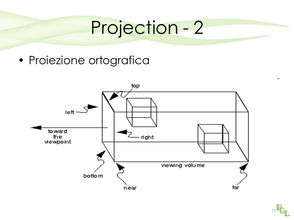 11 Projection - 2 Proiezione ortografica