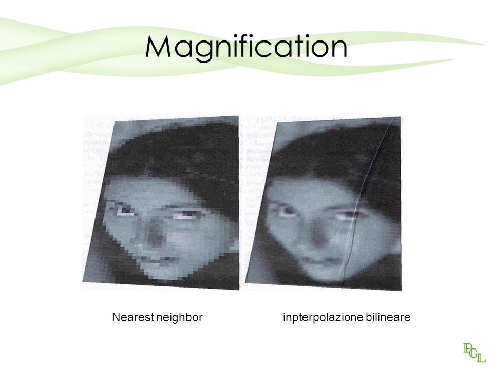 Magnification Nearest neighbor inpterpolazione bilineare