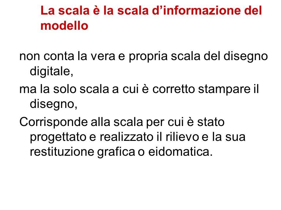 La scala è la scala dinformazione del modello non conta la vera e propria scala del disegno digitale, ma la solo scala a cui è corretto stampare il di