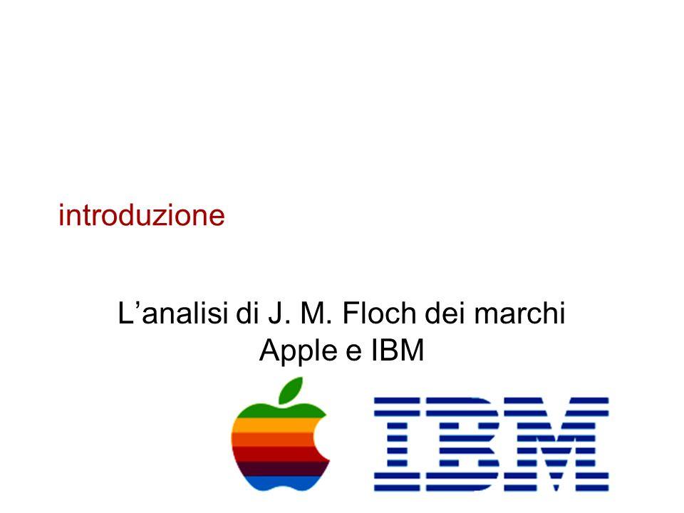 introduzione Lanalisi di J. M. Floch dei marchi Apple e IBM